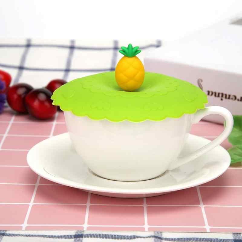 1 Pcs Silicone Cup Deksel Multi-functionele Herbruikbare Dust-proof Kom Cover lekvrije Cup Deksels Leuke vruchten dier Decor Mokken Cap