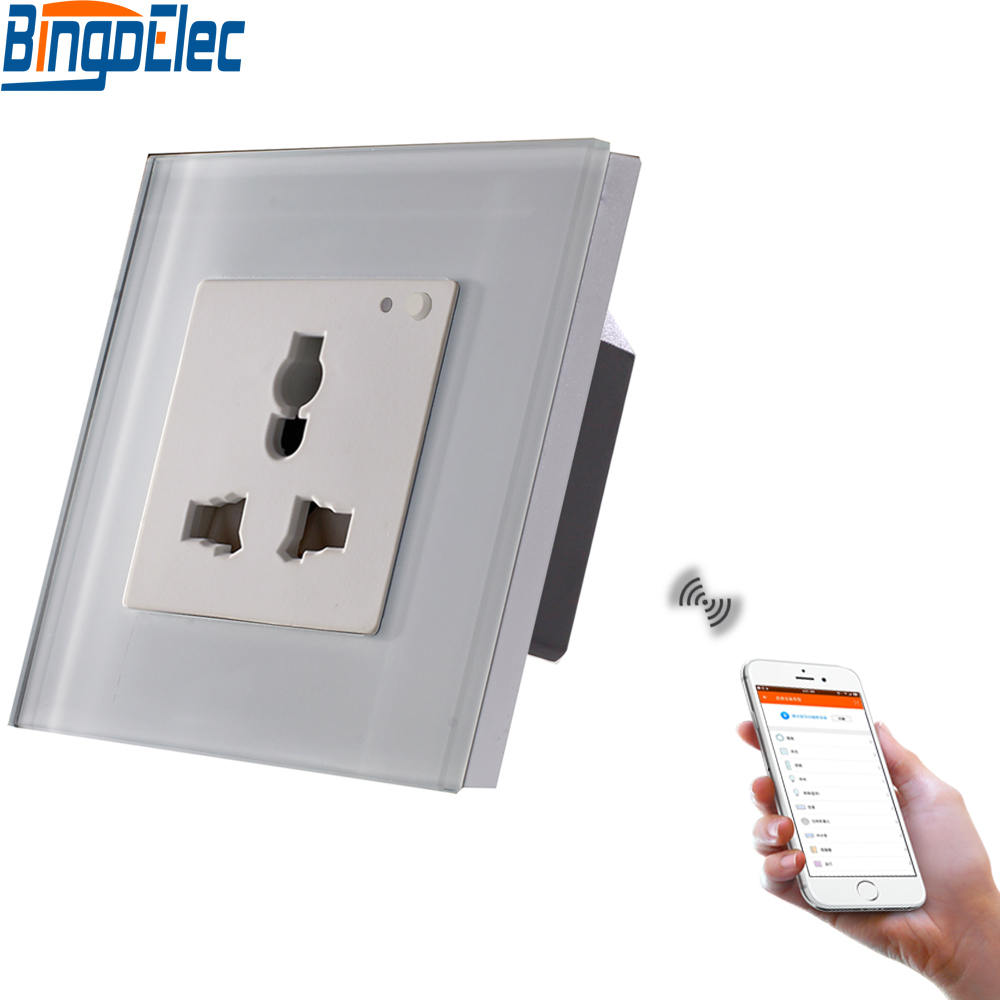 Bingoelec UK 13a Universal Switched Socket Wifi Socket Smart Home for Android ISO System web page
