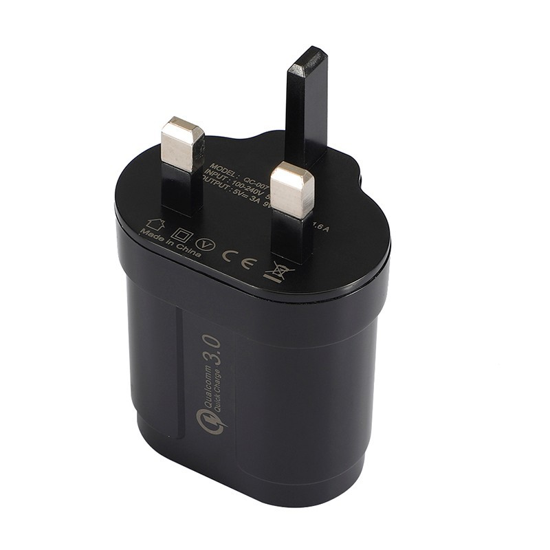 Fast QC3 0 UK Charger for iPhone for Xiaomi Samsung Universal Travel Power Supply Fast Charging Adapter with Micro Type c Cable in Mobile Phone Chargers from Cellphones Telecommunications