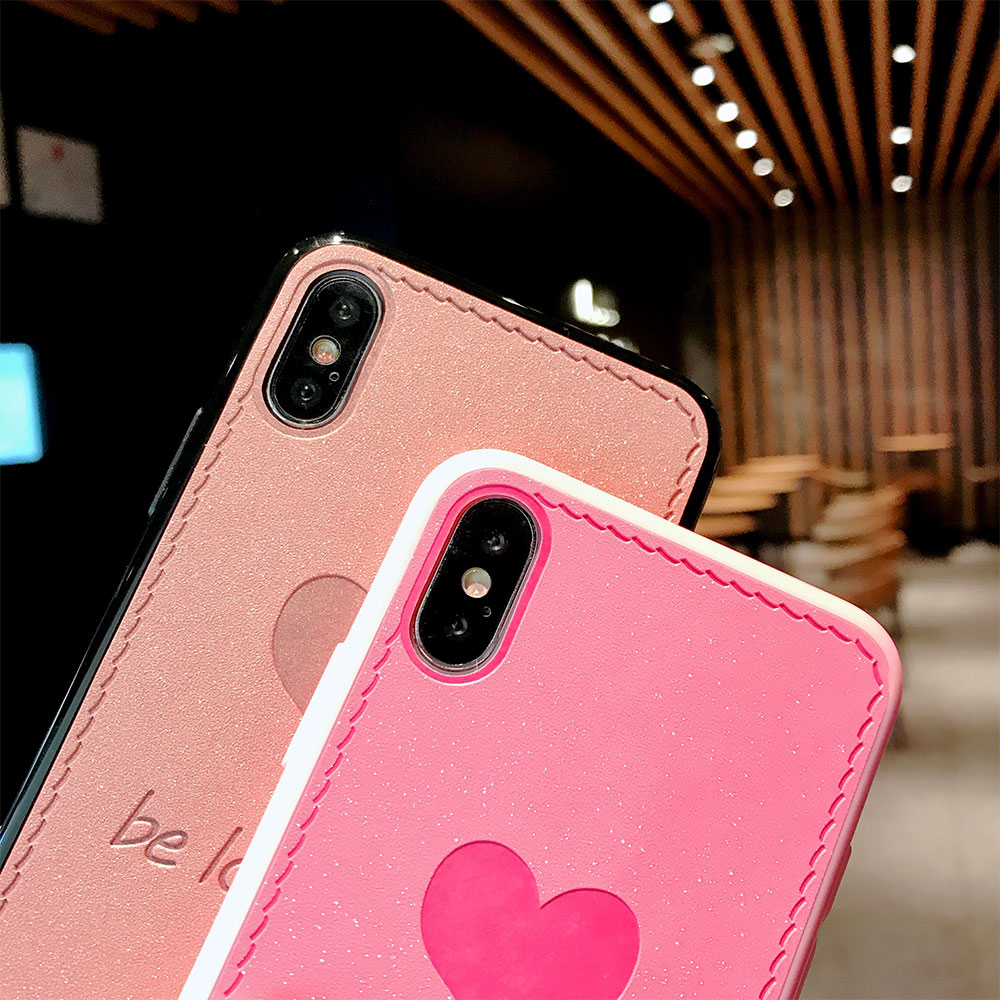 KISSCASE Fashion Patterned Case For iPhone 8 7 X 6 6S Plus Luxury Bling Mobile Phone Cases For iPhone XS Max XR 6 S 7 Funda Capa in Fitted Cases from Cellphones Telecommunications