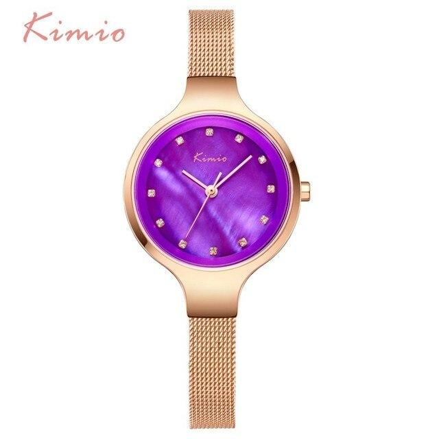 KIMIO Simple Ladies Bracelet Diamond Woman Watches Quartz Watches Women Fashion Watch 2018 Brand Women's Watches For Women Clock