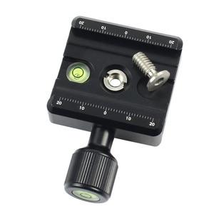 Image 4 - Adapter Platte Platz Clamp mit Gradienter für Quick Release Platte für Stativ Ball Kopf Q19819
