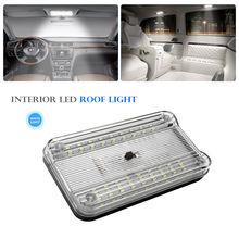 Luz de led branca para teto de caravana, luz branca de 12v e 36 leds para teto de transporte dome