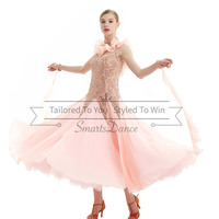 Lady NEW Ballroom Competition Dance Dress Modern Waltz Standard Latin Dress Free Shipping