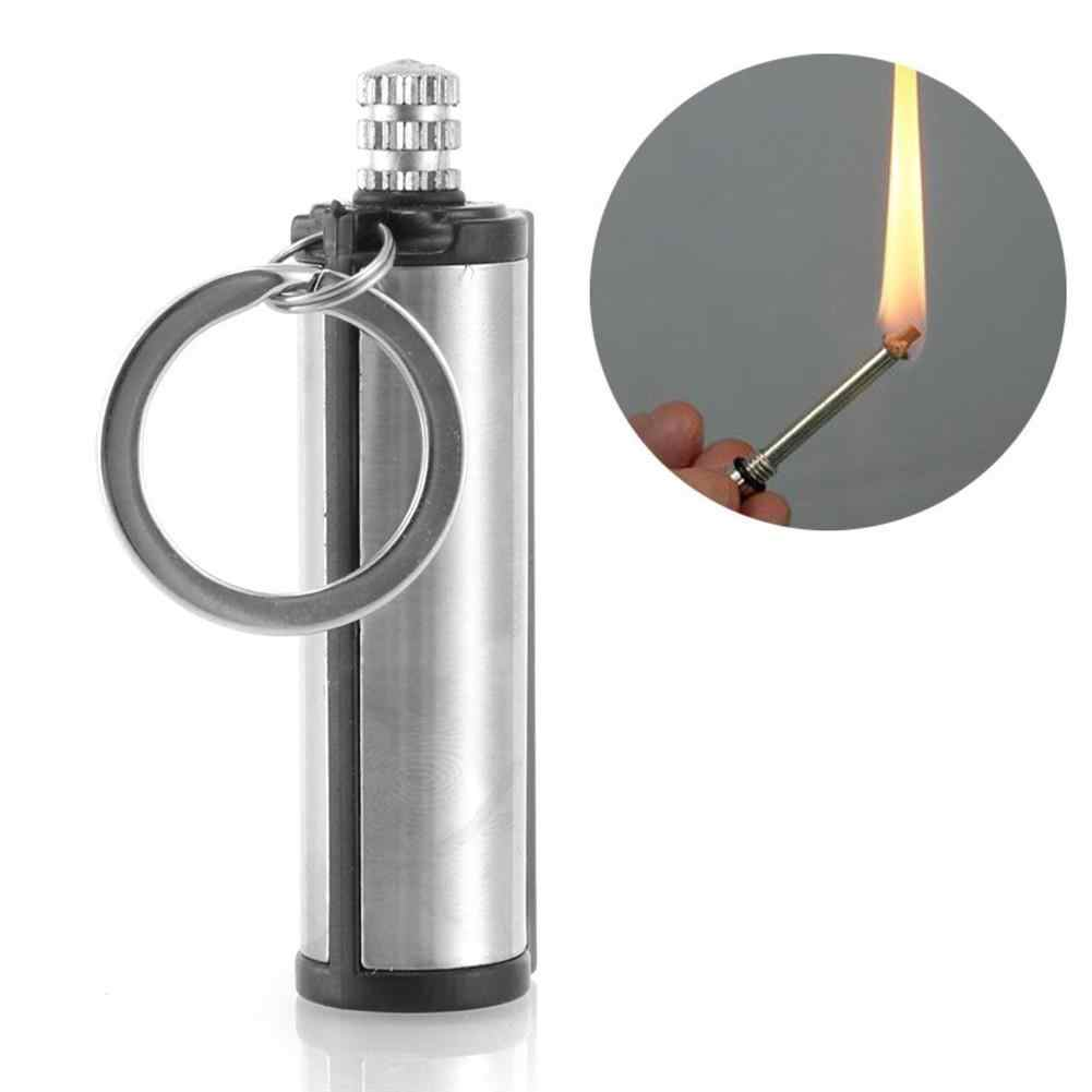 3PCS Steel Fire Starter Flint Match Lighter Keychain On For Outdoor Camping Hiking Instant Emergency Survival Gear Tools