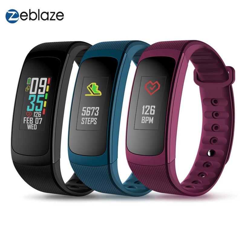 Zeblaze PLUG C couleur réfléchissante LCD bracelet bande intelligente bluetooth Fitness Tracker toujours sur la fréquence cardiaque Smartwatch montre