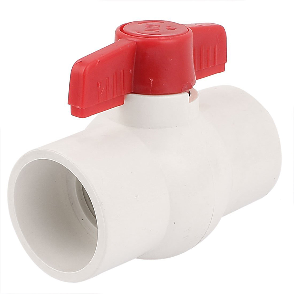 50MM2 inch Slip Ends Water Control PVC Ball Valve White Red