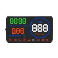 Head Up Display Car Windscreen M9 Speedmeter Driver's Safety Warning System Projector 5.5''Car HUD Car OBD2
