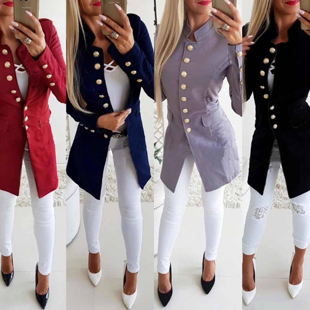 women-fashion-solid-stand-collar-single-breasted-slim-spring-autumn-winter-office-button-blazer-coat-casual