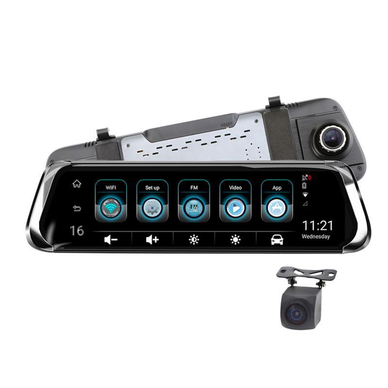 E08 10 ''ips Touch 4G Зеркало DVR ADAS вождения регистраторы 1080 P Wi Fi беспроводной двойной объектив HD зеркало заднего вида навигации с камера