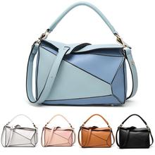 Individual Crossbody Bags For Women Ladies Irregular Shape PU Leather Patchwork Vintage Messenger Sac