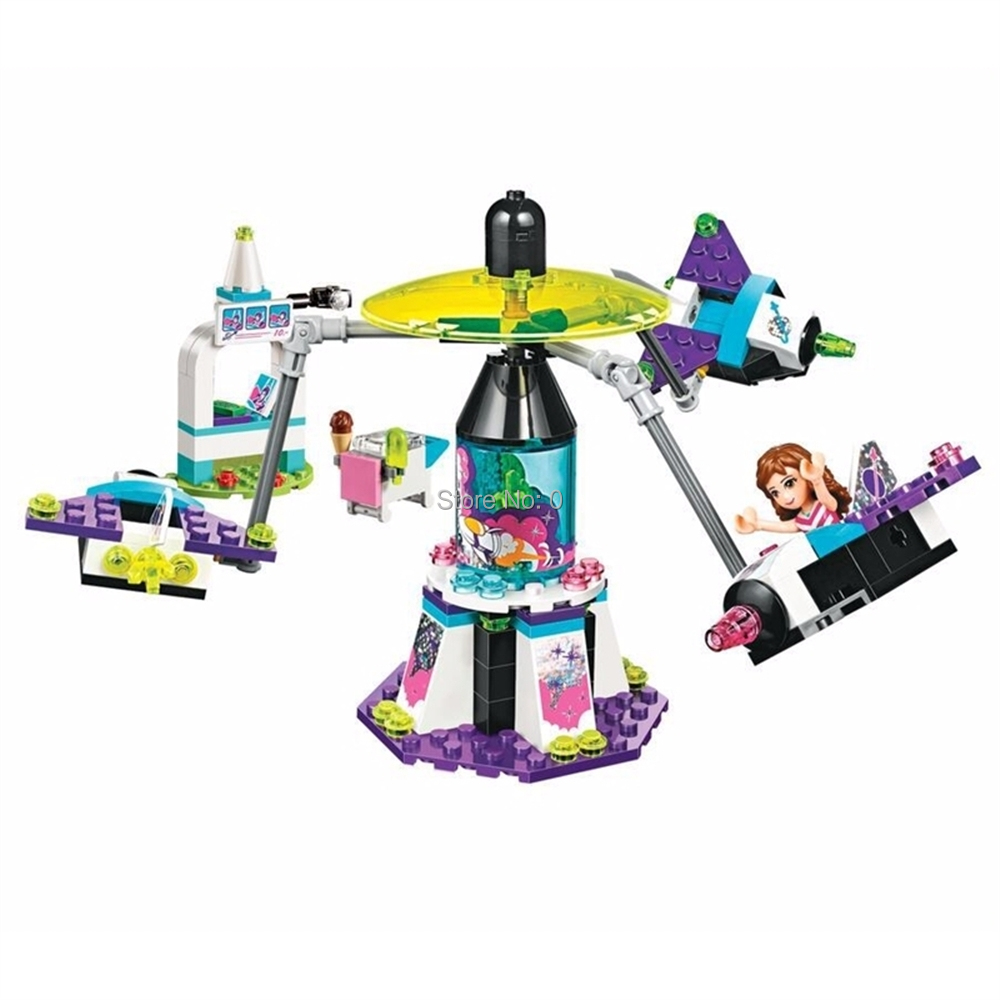 Constructive 10556 197pcs Girl Friends Space Ship Amusement Park Bela Building Block Compatible 41128 Bricks Toy To Enjoy High Reputation At Home And Abroad Model Building