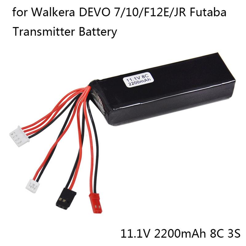 11.1V 2200mAh Lipo Battery For Walkera DEVO 7 10 F12E/JR Futaba Transmitter RC Remote Control Aircraft Accessory