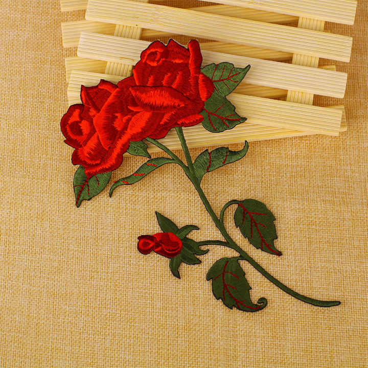 5cfd79c6234400 Detail Feedback Questions about Large Red Rose Open Petals On Long ...