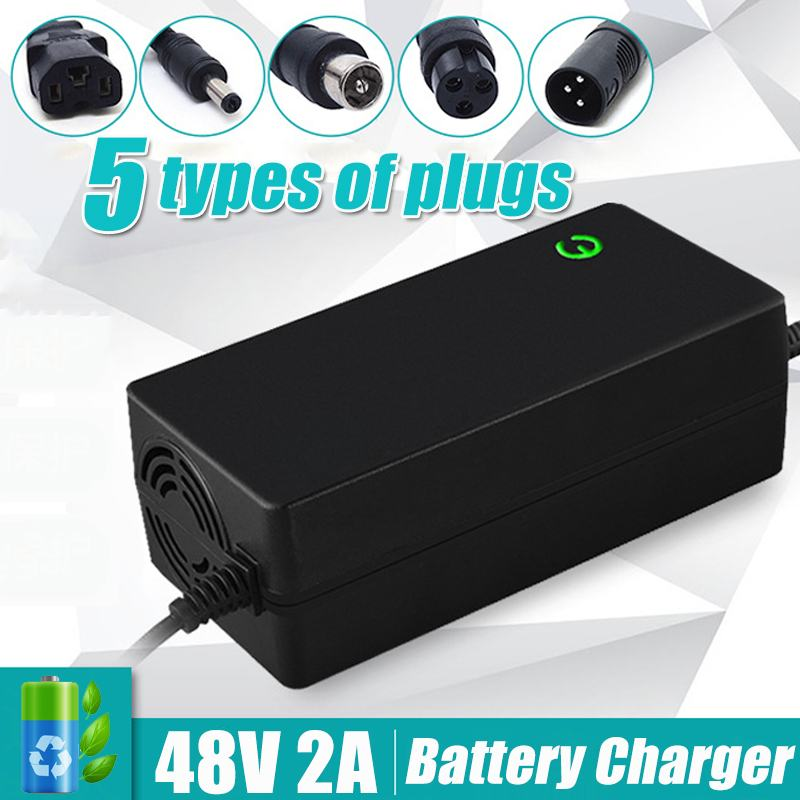 48V 2A Light Lithium Battery Charger Electric Bicycle Bike Scooter Charger Power Supply Balance Car Charging Equipment