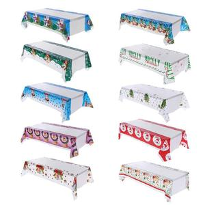 New Year Christmas Tablecloth Kitchen Dining Table Decorations Rectangular Table Covers Christmas Decorations for Home Navidad(China)
