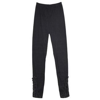 Fashion Womens Lace Crochet Sexy Skinny Leggings High Wais Stretch Jeggings  Full Long Pants Pencil Trouser