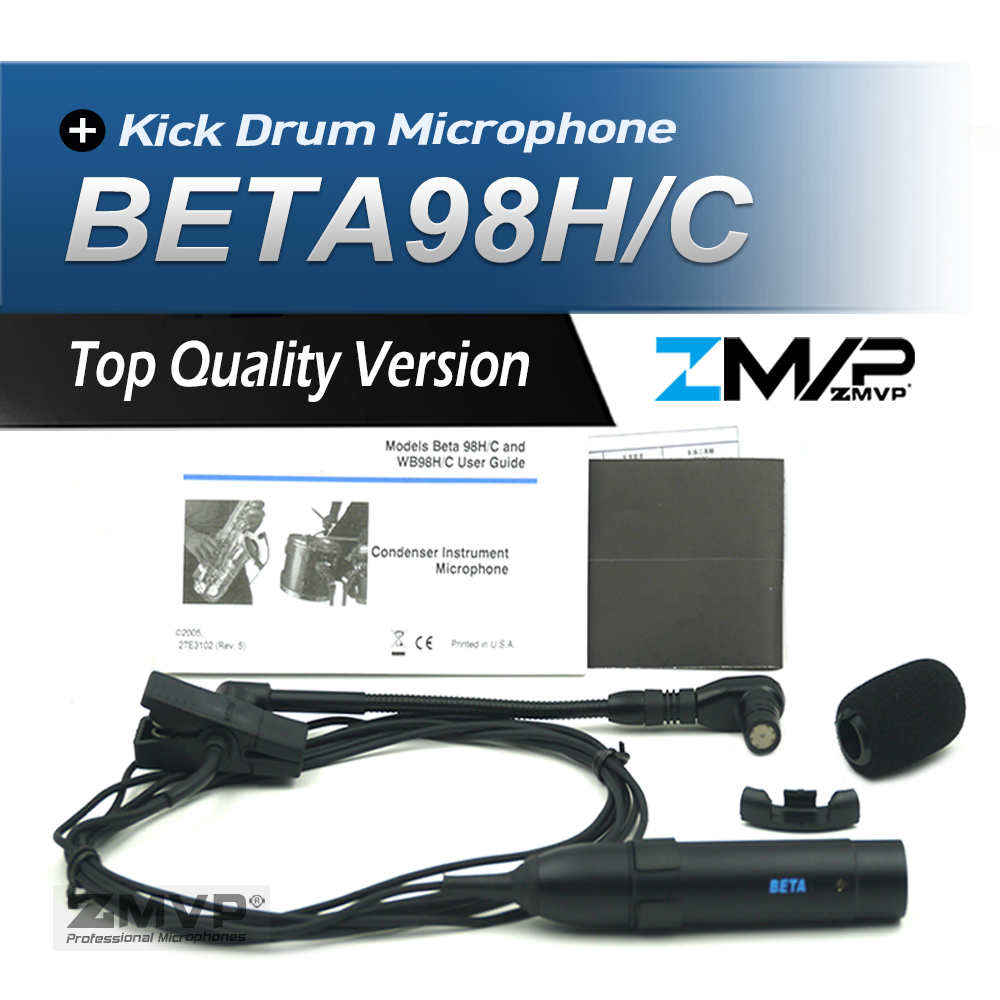 Professional BETA98T Flexible Gooseneck BETA98HC Cardioid Condenser Instrument Percussion Microphone Mic For Brass Woodwinds