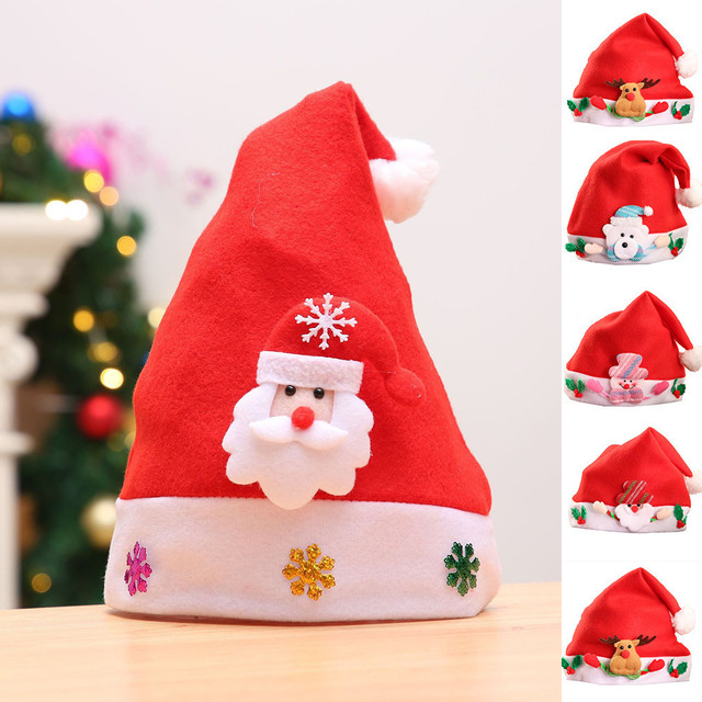 Christmas Hats For Kids.Us 1 22 Christmas Ornaments Decoration Christmas Hats Santa Hats Children Women Men Boys Girls Adult Kids Cap For Christmas Party Props In Christmas