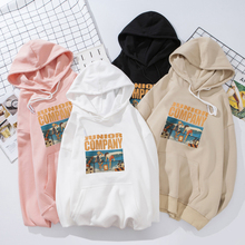 New Pink Black Hoodie Women Winter Autumn 90s Style Junior Company Unisex Girls Retro HipHop Street Kpop Ulzzang Pullover Tumblr