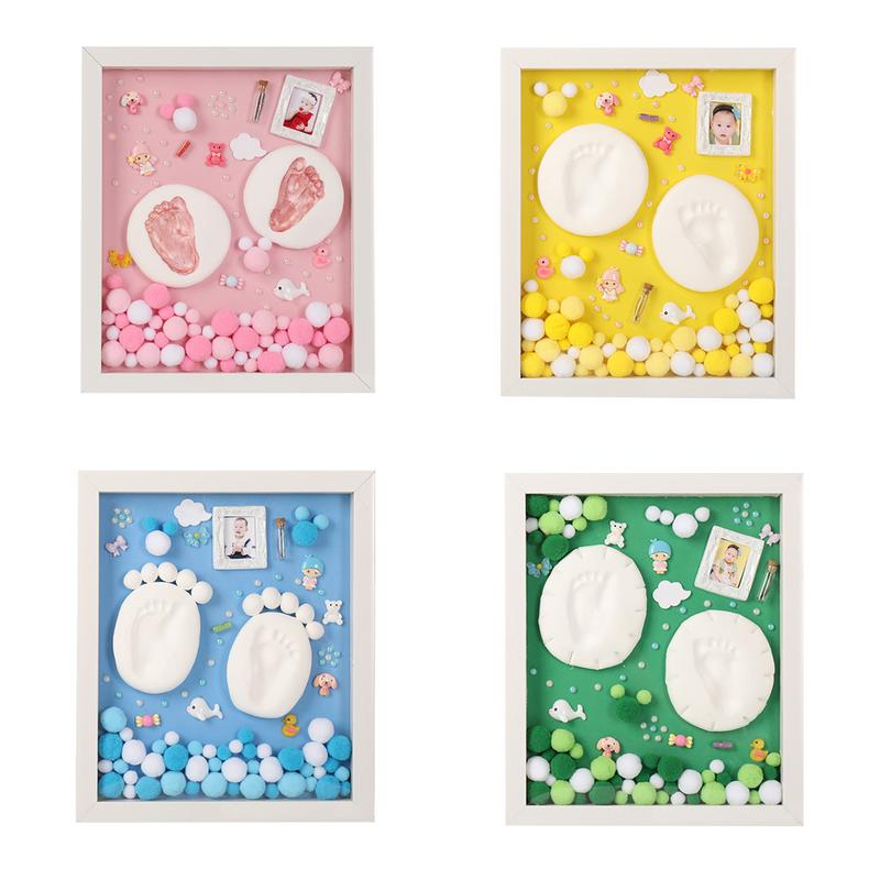 Baby Ink Pad Photo Frame Paw Print Pads Handprint Footprint Newborn Care Air Hand Foot Infant Imprint Kit Infant Gifts Souvenirs