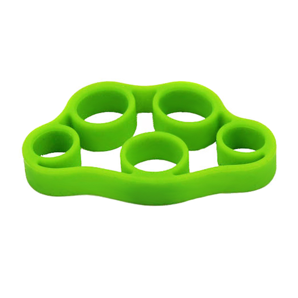 1 Silicone Finger Strengthener Hand Resistance Band Hand Grip Exerciser Strength Trainer Gripper WHShopping