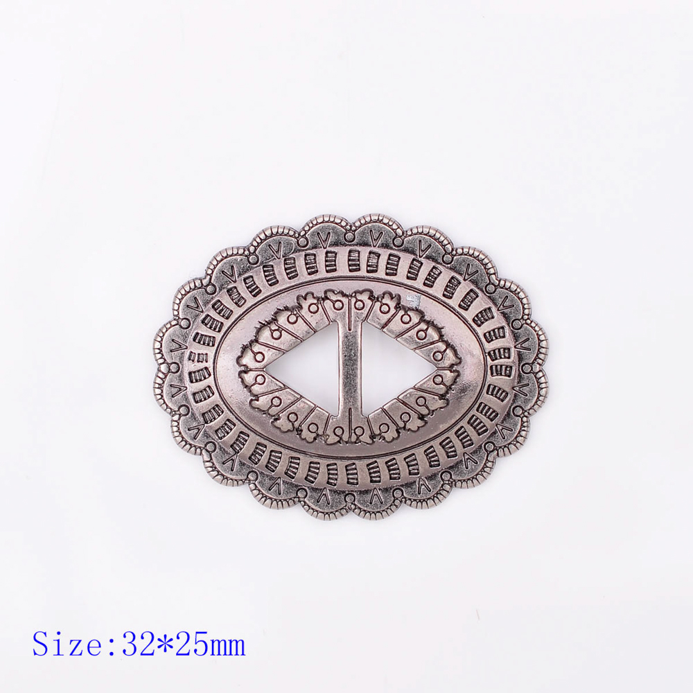 """25mm Barbed Wire Slotted Concho 1/"""""""