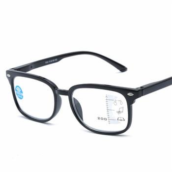 9f200efbea NYWOOH Multifocal Progresiva gafas de lectura de los hombres y las mujeres  Anti-Luz Azul gafas de presbicia dioptrías + 1,0 de 4,0