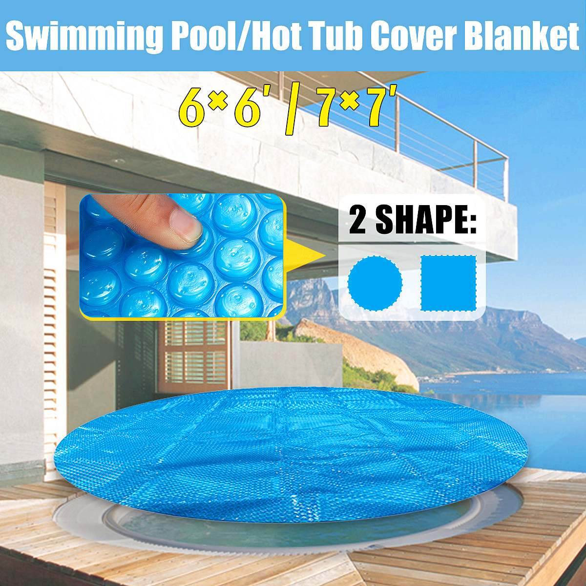 6ft/7ft Round/Square Swimming Pool Spa Hot Tub Cover 400m Solar Thermal  Blanket New Arrival-in Pool & Accessories from Sports & Entertainment on ...