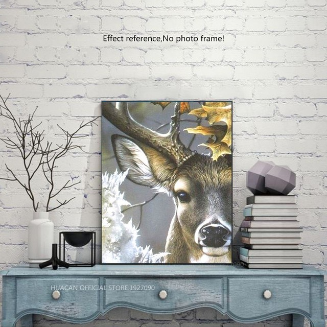 HUACAN Diamond Painting Deer Full Square 5D DIY Diamond Embroidery Mosaic Animal Rhinestone Handmade Decor Home