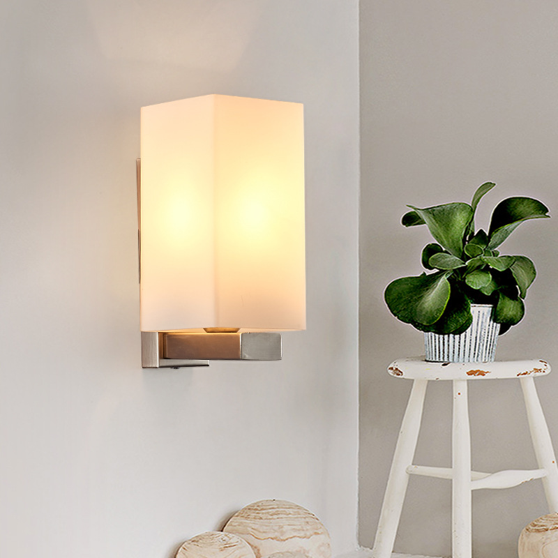 US $28.03 36% OFF|Contemporary Sconce Wall Lights Glass Iron Wall Light  Fixture Modern Led Wall Lamp Bedroom Lamp Nordic Applique Murale Aplik-in  LED ...