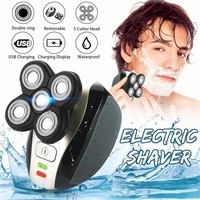 Compact Electric 5 Head Bald Head Shaver USB Rechargeable Cordless Hair Clipper IPX7 Mini Trimmer Razors