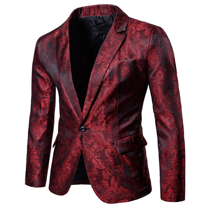 Jackets Blazers Glitter-Suit Gold Male Fashion Stage Nightclub DJ Shiny Men