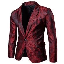 Модные мужские блестящие блейзеры, Золотой блестящий костюм, куртки, мужской костюм на одной пуговице для ночного клуба, блейзер, блейзеры для сцены