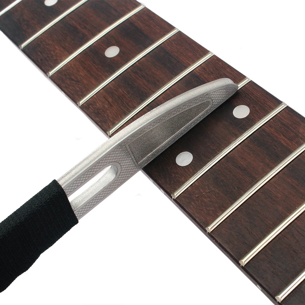 Guitar Neck Notched Straight Edge Luthier Tool Fret File Stainless Steel Guitar Repair Maintenance Tool Fingerboard