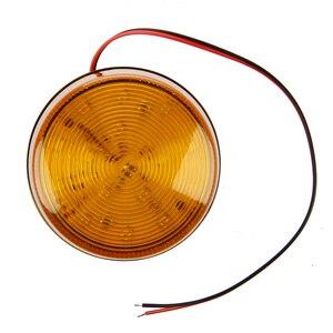 Image 2 - 12V güvenlik Alarm Strobe sinyal güvenlik uyarı mavi/kırmızı yanıp sönen LED ışık turuncu sıcak