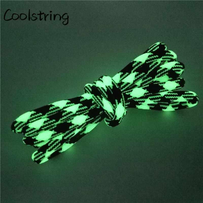 Coolstring Esporte Brilhante Rodada Cadarço Glow In The Dark Night Colorida Fluorescente Athletic Shoe Laces Shoestrings Para Botas