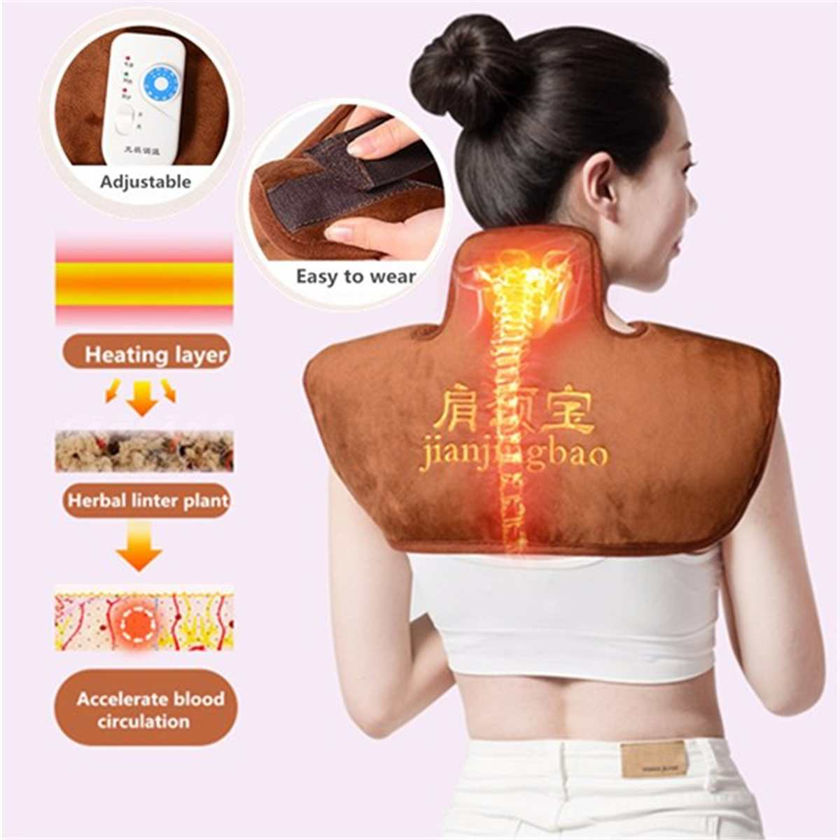 Electric Heating Blanket Electric Heated Pad Shoulder Warmer Heating Mat Electric Moxibustion Shoulder Neck Mats For Winter
