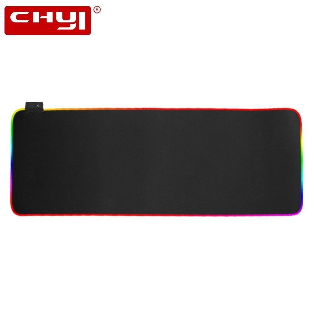 CHYI grande taille coloré jeu lumineux RGB tapis de souris imperméable tapis de souris de jeu pour ordinateur portable vitesse tapis de souris lisse