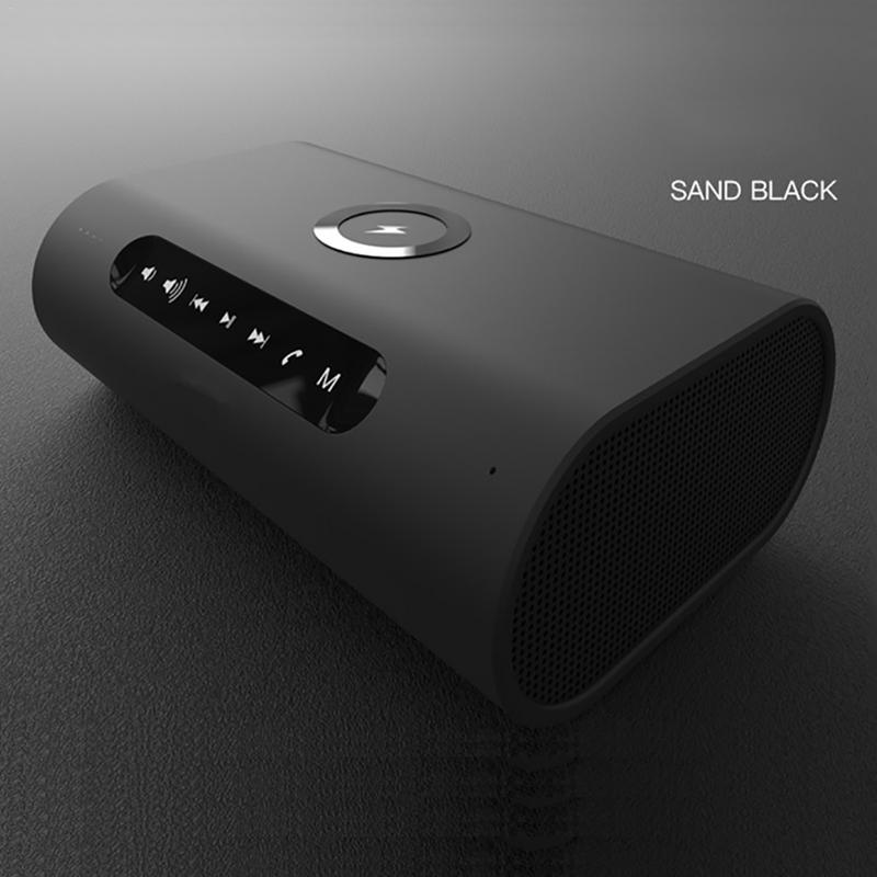 Wireless Bluetooth Speaker With Wireless Charger Dual-Speaker 3D Stereo Power Bank Audio Outdoor Portable Drop Shipping NewWireless Bluetooth Speaker With Wireless Charger Dual-Speaker 3D Stereo Power Bank Audio Outdoor Portable Drop Shipping New