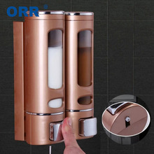 Double Soap Dispenser Wall Mount Hand Sanitizer Shower Shampoo Dispenser Saboneteira Liquid Soap Container Bathroom Accessories 380ml ball shape liquid soap dispensers pump shower shampoo bottle hand sanitizer container bathroom accessories
