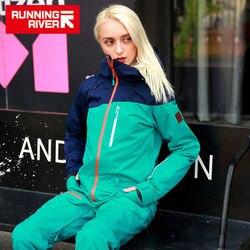 Chaqueta impermeable de la marca RUNNING RIVER para mujeres, traje de Snowboard para mujeres, chaqueta de Snowboard femenina, conjunto de ropa de Snowboard # B8091