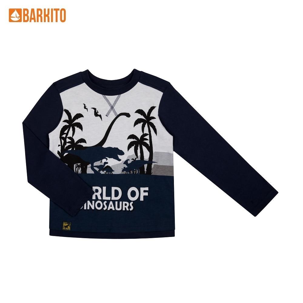 T-Shirts Barkito 341310 children clothing Cotton S19B4058J Blue Boys Casual цены онлайн