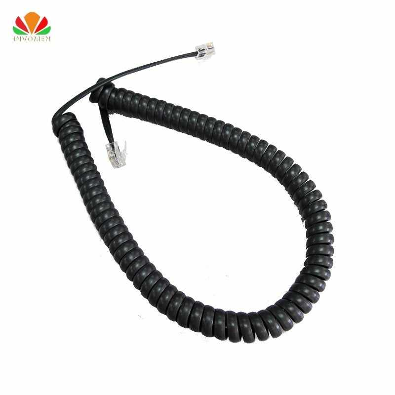 Long type Telephone cord pure Copper wire phone volume curve Microphone 6P4C connector telephone cable 3 meter handset line