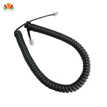 Long type Telephone cord pure Copper wire phone volume curve Microphone 6P4C connector telephone cable 3 meter handset line(China)