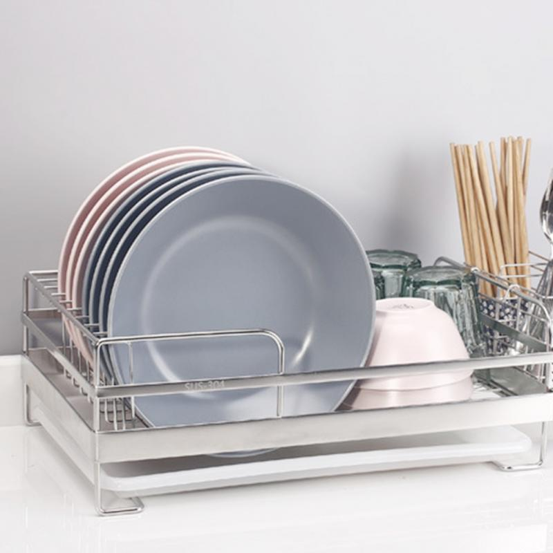 Kitchen Organizer Tools Bowl Dish Drying Rack Stainless Steel Single Layer Drain Rack Household Kitchen Plate Storage Holder #20-in Racks & Holders from Home & Garden on AliExpress - 11.11_Double 11_Singles' Day 1