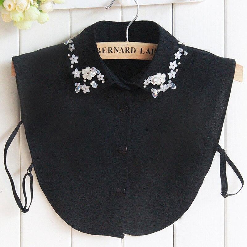 Dickie Crystal Dickie Children Fund Shirt Korea Decoration Shirt Collar Detachable False Removable Women Clothes