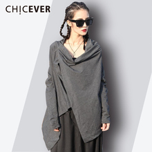 CHICEVER Astmmetrical 不規則な女性の tシャツ