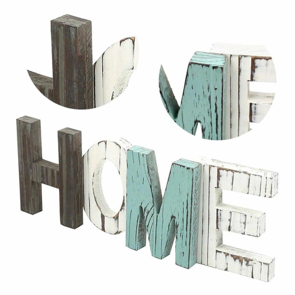 42x15x4 см деревянная мебель для дома декоративные буквы большие деревянные буквы алфавита настенный Свадебный знак-украшение