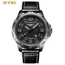 EYKI Large Stereoscopic Dial Luminous Popular Colorful Younth Men Watch Top Brand Man Watches Sport Quartz Wrist For